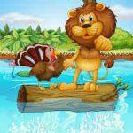 El león y el pavo